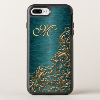 Shiny Chic Faux Gold Baroque Floral Swirl Pattern OtterBox Symmetry iPhone 7 Plus Case