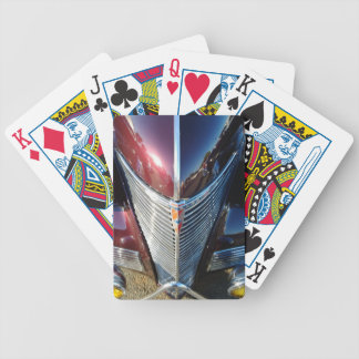 Shiny Chrome Grille of Chevrolet Hot Rod Bicycle Playing Cards