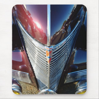 Shiny Chrome Grille of Chevrolet Hot Rod Mouse Pad