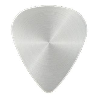 Shiny Circular Polished Metal Texture Acetal Guitar Pick