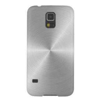 Shiny Circular Polished Metal Texture Galaxy S5 Case