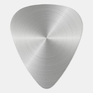 Shiny Circular Polished Metal Texture Guitar Pick
