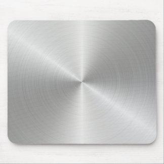 Shiny Circular Polished Metal Texture Mouse Pad