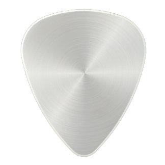 Shiny Circular Polished Metal Texture Polycarbonate Guitar Pick
