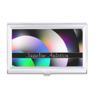 Shiny Color Discs Business Card Holder