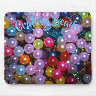 Shiny Colorful Beads Mouse Pad