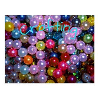 Shiny Colorful Beads Postcard