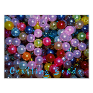 Shiny Colorful Beads Poster