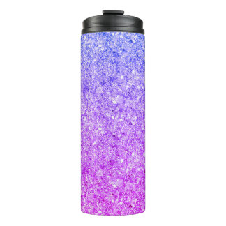 Shiny Colorful Glitter Thermal Tumbler
