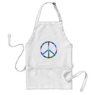 Shiny Colorful Peace Sign Standard Apron