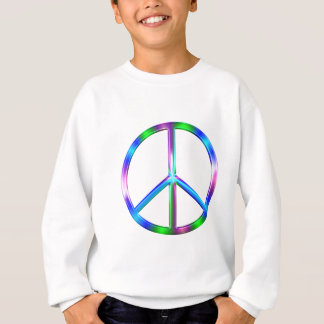 Shiny Colorful Peace Sign Sweatshirt