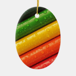 shiny colors ceramic ornament