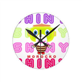 Shiny-Cute Monkey-Morocko Round Clock