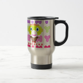 Shiny-Cute Monkey-Morocko Travel Mug