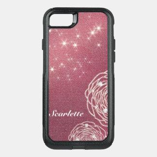 Shiny Diamond Rose OtterBox Commuter iPhone 8/7 Case
