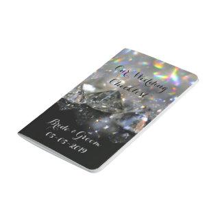 Shiny Diamonds Festive Elegant Black White Chic Journals