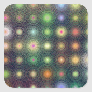 Shiny Disco dots Square Sticker