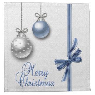 Shiny Elegant Christmas Balls - Cloth Napkin
