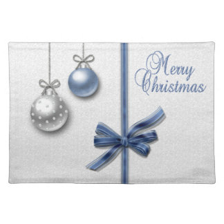 Shiny Elegant Christmas Balls - Cloth Placemat