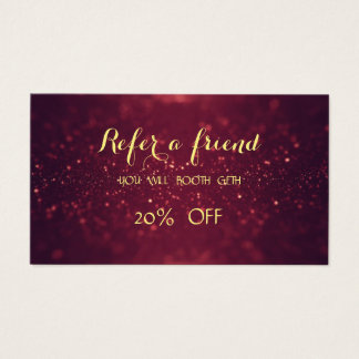 Shiny,Elegant,Glitter Bokeh  Referral Card