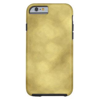 Shiny faux gold foil look electronics tough iPhone 6 case