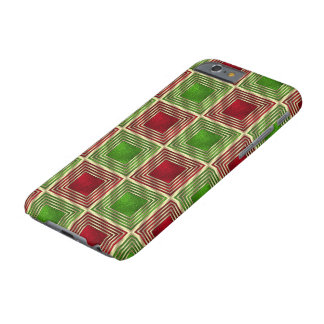 Shiny Festive Squares Barely There iPhone 6 Case