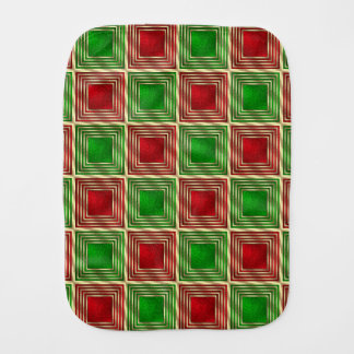 Shiny Festive Squares Burp Cloth
