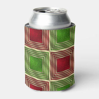 Shiny Festive Squares Can Cooler