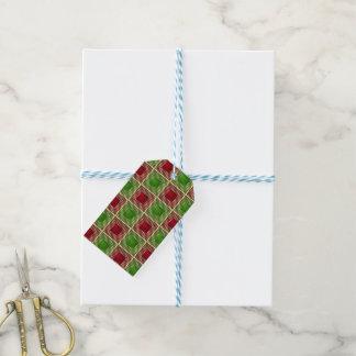Shiny Festive Squares Gift Tags