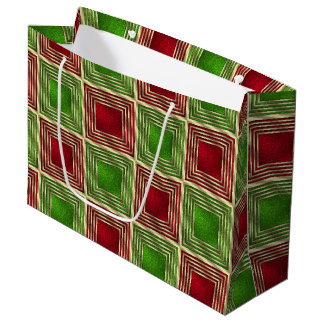 Shiny Festive Squares Large Gift Bag