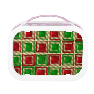 Shiny Festive Squares Lunch Box