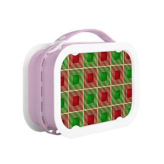 Shiny Festive Squares Lunch Box