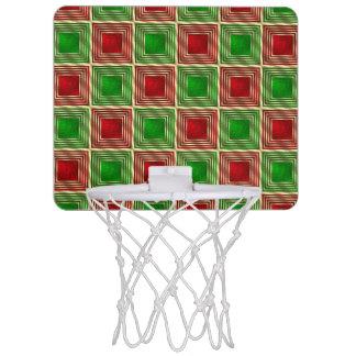 Shiny Festive Squares Mini Basketball Hoop