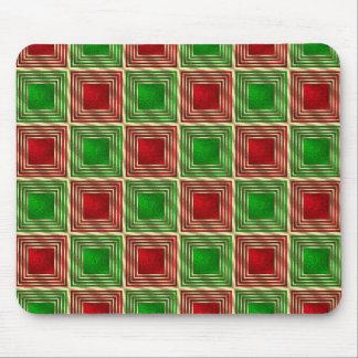 Shiny Festive Squares Mouse Pad