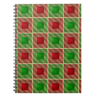 Shiny Festive Squares Notebooks