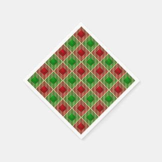 Shiny Festive Squares Paper Napkin