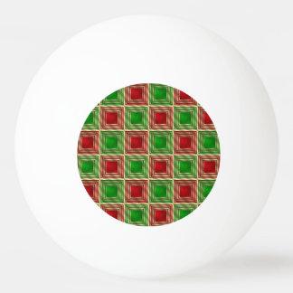 Shiny Festive Squares Ping Pong Ball