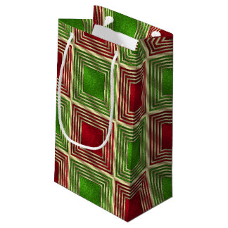 Shiny Festive Squares Small Gift Bag