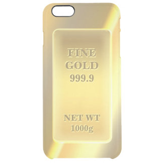 Shiny Fine Gold 999.9 Gold Brick Gold Bar Clear iPhone 6 Plus Case