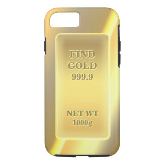 Shiny Fine Gold 999.9 Pattern Customizable Text iPhone 7 Case