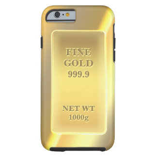 Shiny Fine Gold 999.9 Pattern Monogrammed Tough iPhone 6 Case