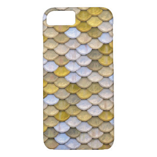 Shiny Fish Scales Effect Pattern Gold Silver iPhone 7 Case