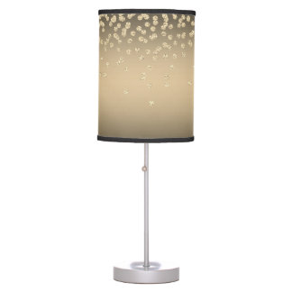Shiny Foil Confetty Or Diamond Table Lamp