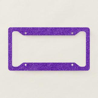 Shiny Glitter, Sparkling Glitter Glow - Purple License Plate Frame
