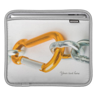 Shiny Gold and Silver Colors Chain Clip Sleeves For iPads