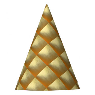 Shiny Gold Art Party Hat