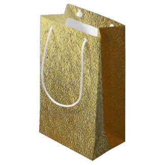 Shiny Gold Art Small Gift Bag