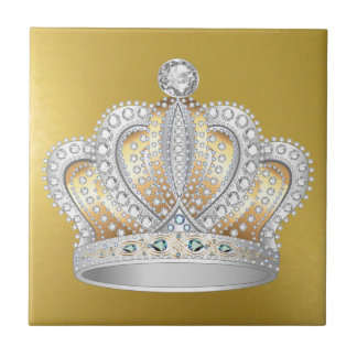 Shiny Gold & Crown Ceramic Tiles