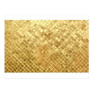 Shiny gold glitter background postcard