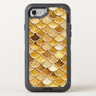 Shiny Gold Glitter Mermaid Scales Otterbox Phone OtterBox Defender iPhone 8/7 Case